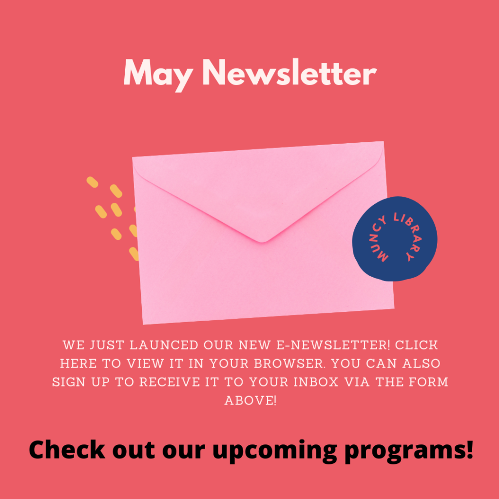 muncy library may newsletter