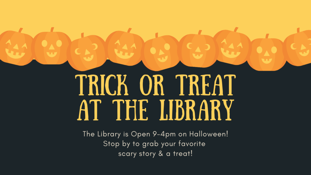 trick or treet at the library