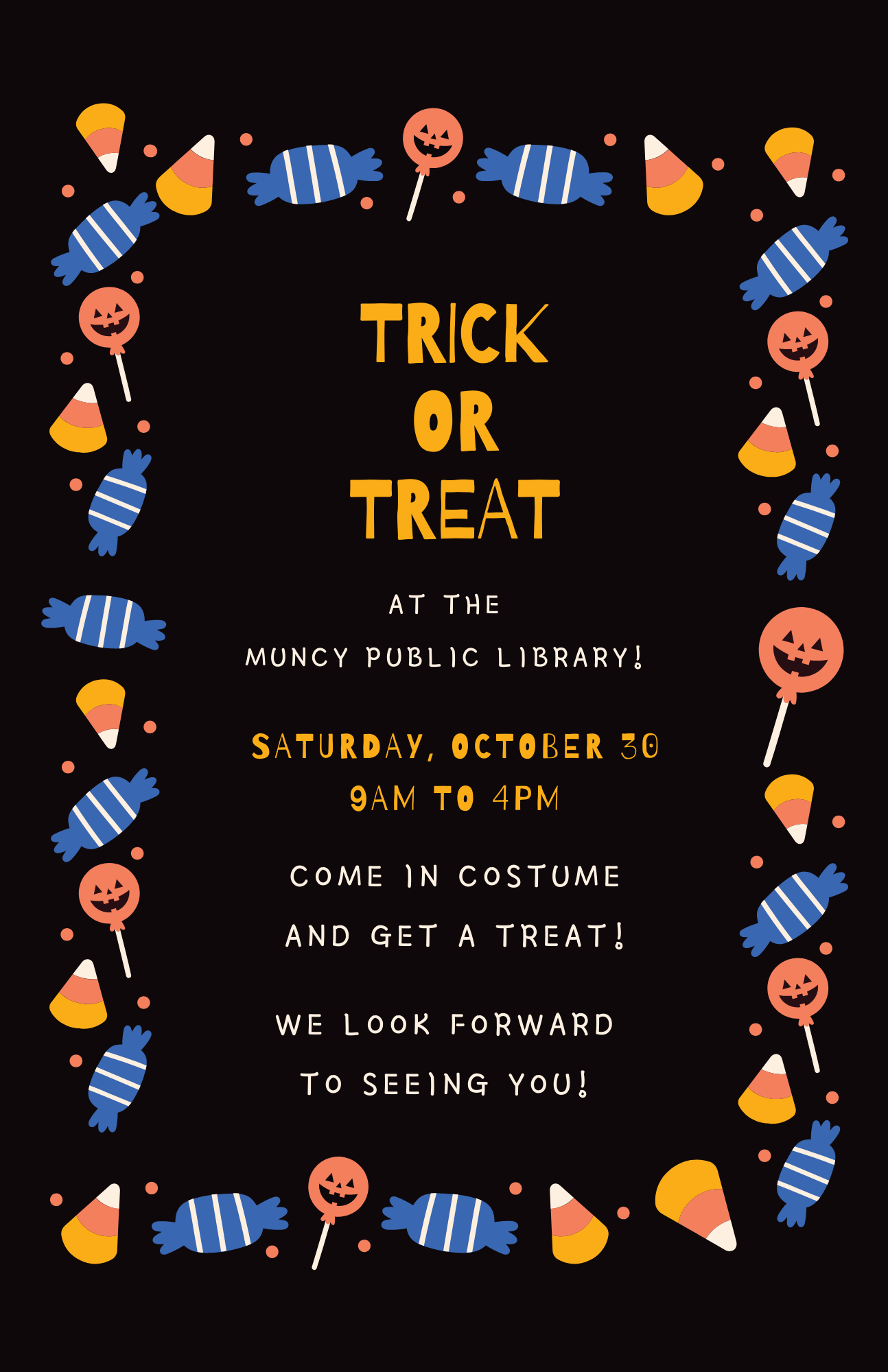 Trick or Treat @ the Library