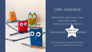 PreK Owl Friends